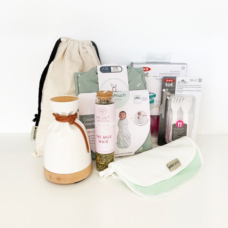 Each bag is curated to suit the needs of the parent and the child, when they need it.